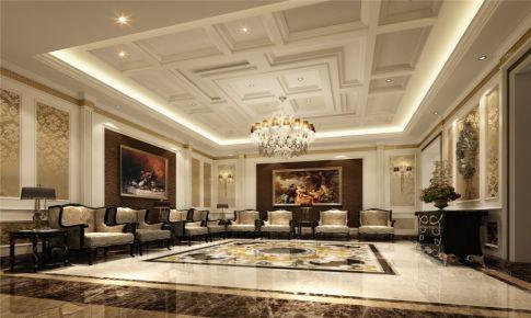 会所装修设计案例展示,上海腾龙别墅设计