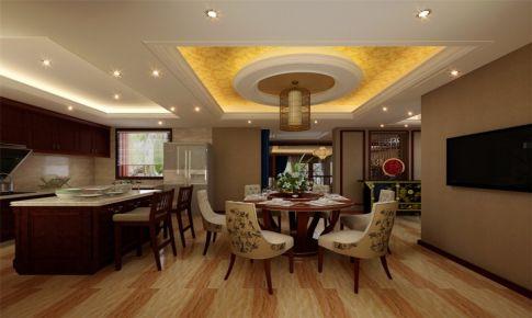 南郊中华园别墅装修新中式风格设计
