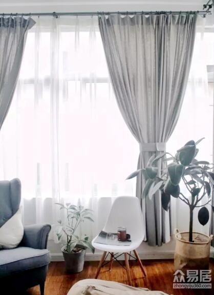 宁波阡陌装饰 窗帘白灰搭配永远不会错