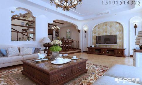 喜山190平别墅装修设计,简美风格|青岛实创装饰