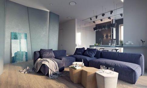 高品位公寓 立体墙面是亮点