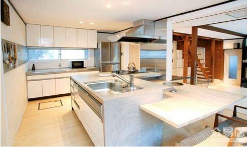 珠海小户型开放式厨房折叠门效果图