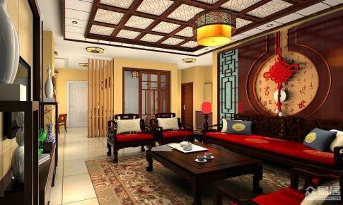 新中式两居室 书房满满中国风