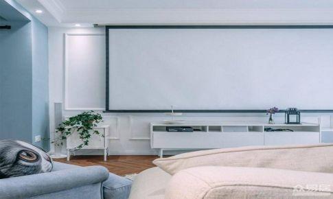 蓝色北欧风 舒适清爽的客厅