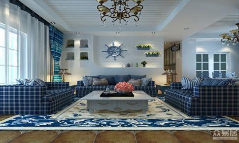 视觉色装饰130平米地中海风格
