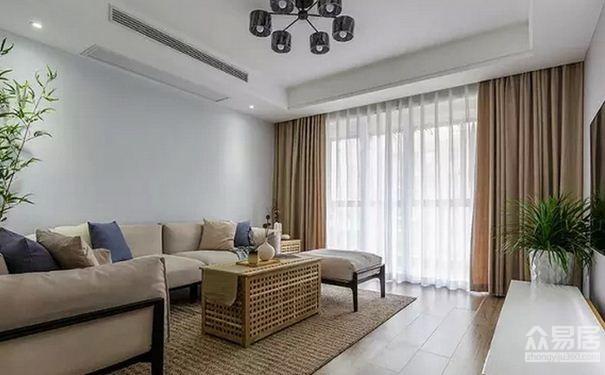 常熟简约风格房屋欣赏 原木和藤条打造出的收纳空间