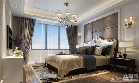南天金源151平米四房美式混搭风格设计案例