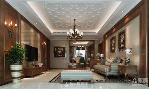 联泰棕榈庄园162平4房新古典风格设计案例