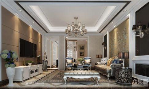 铜锣湾广场155平四房欧式风格设计案例