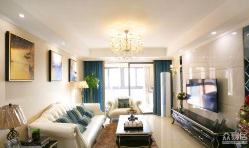 杭州光明尚海湾清新的混搭风格三居室房屋