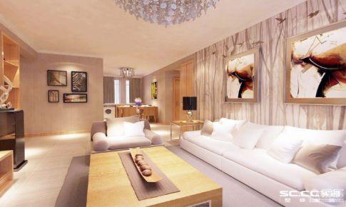 绿地新里海德公馆106平三居室的现代简约装修|青岛实创装饰