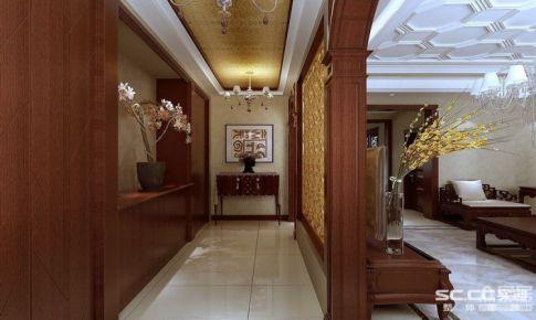 正阳东郡中式美式混搭166平别墅装修|青岛实创装饰