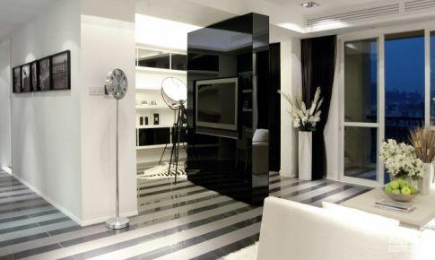 上海国贸天悦黑白灰风格三居室房屋装修