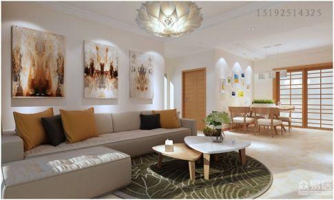 温莎郡128平三居室现代简约装修设计|青岛实创装饰