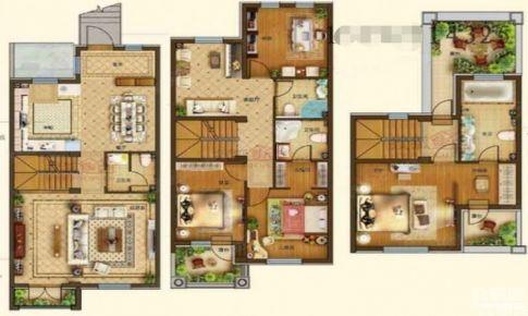 即墨别墅装修案例,天泰蓝山220平六居室现代简约装修设计|青岛实创装饰