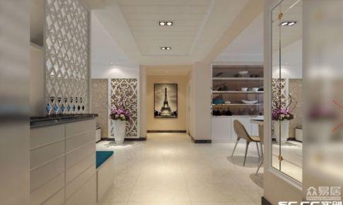 两居室装修案例,金域府邸86平现代简约装修案例|青岛实创装饰
