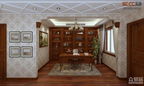 意墅湾180平加地下室中式+美式装修案例