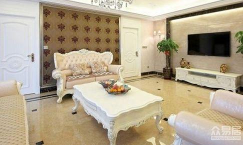 广州怡港花园120平米欧式风格三居室
