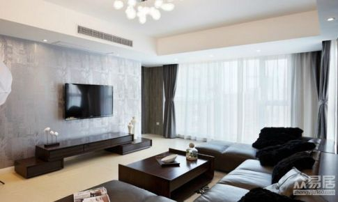 上海和颐苑140平米简约风格三居室