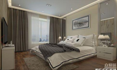 金茂湾装修案例,88平二居室简约设计|青岛实创装饰