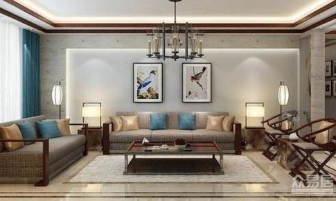 成都恒大帝景120平米中式风格三居室