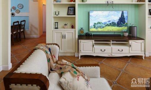杭州中栋国际124平米混搭风格三居室