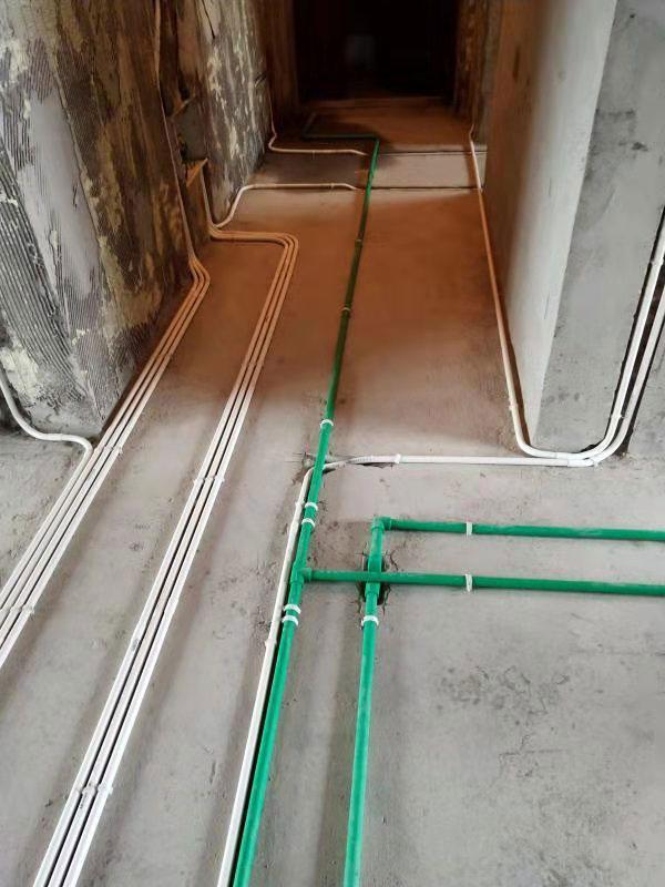 长沙南山十里天池在建工地水电阶段