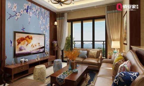 重庆江北|国奥村|洋房|美式混搭|装修设计效果图