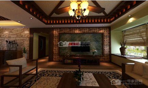 国际城东南亚风情120平米三房二厅二卫装修案例