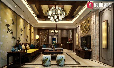俏业家装饰|重庆逸翠庄园别墅|新中式风格|设计效果图