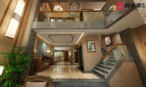 俏业家装饰 重庆北碚山语城底跃 新中式风格 设计效果图