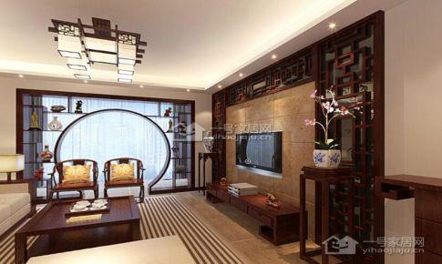 贵阳《中铁逸都国际》新中式128平米三房二厅二卫装修案例