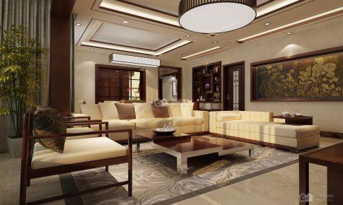 花果园新中式89平米三房二厅一卫装修案例