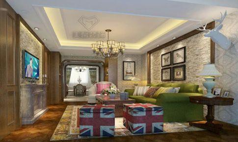 110㎡美式风格三室两厅一卫