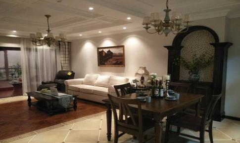 长沙荣欣装饰-美式自由经典两居室装修效果图