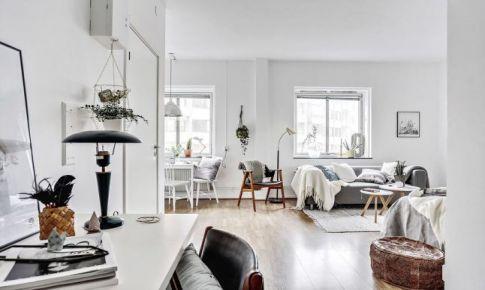33平米单身公寓北欧风装修效果图欣赏