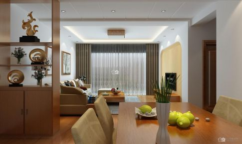 国际城现代简约47平米一房一厅装修案例