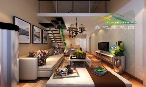 送变电家园64平复式简约风格三室两厅