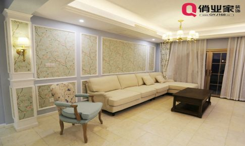 俏业家装饰|重庆保利高尔夫华庭|三居室|美式风格|装修案例|实景图