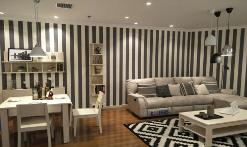 长沙荣欣装饰-北欧时尚两居室装修效果图