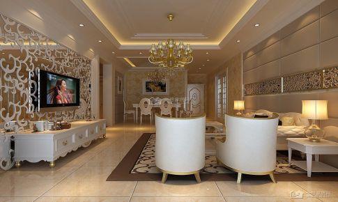 国际城欧式83平米二房二厅装修案例