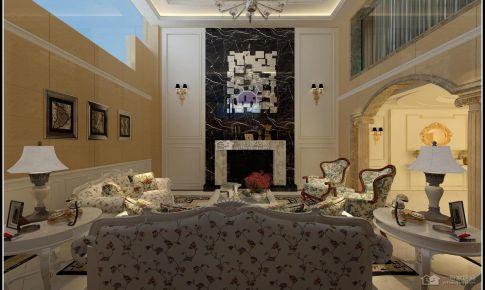 保利溪湖田园风格125平米三房二厅二卫装修案例