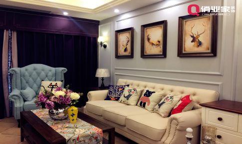 俏业家装饰|世贸茂悦府|两居室|小美式风格|实景图案例