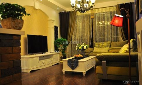 国际城地中海83平米二房二厅装修案例
