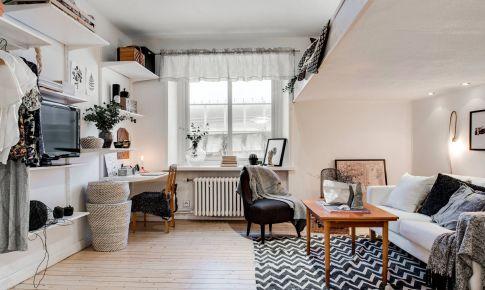34平米单人学生公寓装修效果图 学生公寓装修案例