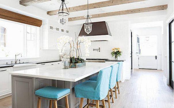 厨房沙滩风格如何装修设计 厨房几款沙滩风格的装修效果图
