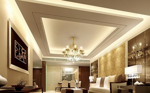 厦门客厅吊顶哪种材料好 时尚客厅吊顶设计