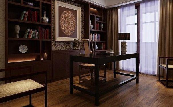 别墅中式书房如何装修设计 别墅中式书房装修设计方案