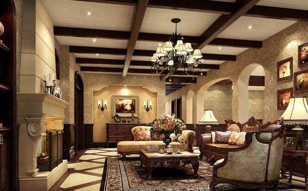美式别墅客厅怎样装修 美式别墅客厅装修效果图