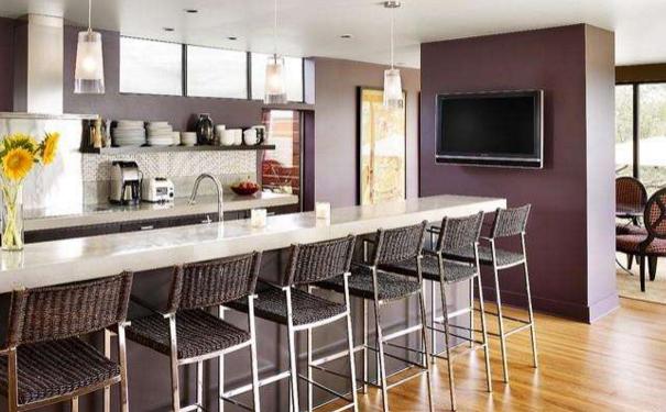 泉州老房子厨房改造 老房吧台式厨房设计